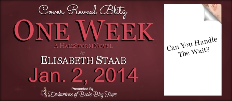 Cover Reveal Banner - One Week by Elisabeth Staab